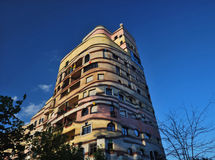Waldspirale residential complex. By Friedensreich Hundertwasser in Darmstadt, Germany stock images