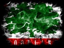 Waldstadt-Rauchflagge, Staat California, die Vereinigten Staaten von Amerika Lizenzfreie Stockfotos