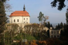 Waldstein slott Arkivfoton