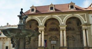Waldstein slott i den Mala stranaen, Prague - senat arkivbilder