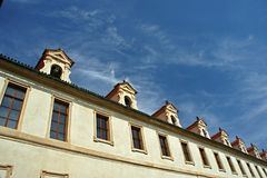 Waldstein slott i den Mala stranaen, Prague - senat royaltyfri fotografi