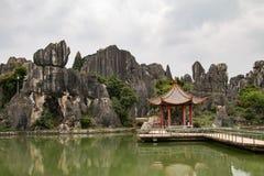 Waldsteine in Kunming, China Stockfotografie