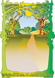Waldszene und -rahmen Stockbild