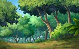 Waldtageszeit Stockbild
