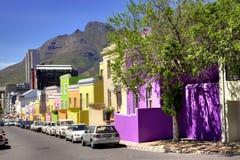 Wale街道, Bo Kaap村庄摘要 免版税库存照片