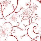 Wale da tela no teste padrão floral bonito Imagens de Stock