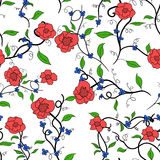 Wale of fabric in beautiful floral pattern Stock Photography