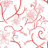 Wale of fabric in beautiful floral pattern Stock Images