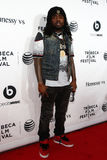 Wale. NEW YORK-APR 16 2014: Rapper Wale attends the world premiere of Time Is Illmatic at the 2014 TriBeCa Film Festival Opening Night at the Beacon Theatre on Stock Photo