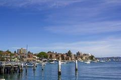 Waleczny nabrzeża i promu terminal fotografia stock