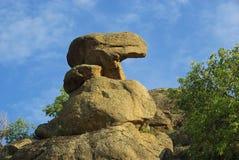 Walencja De Alcantara granitu skały krajobraz Zdjęcia Stock