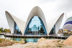 Walencja Hiszpania, Grudzień, - 04, 2016: Główny budynek Oceanograficzny Fotografia Stock