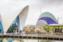 Walencja Hiszpania, Grudzień, - 04, 2016: Główny budynek Oceanograficzny Obraz Royalty Free