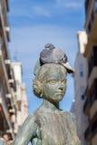Walencja, Hiszpania Grudzień 02, 2016: Gołąb na głowie Fotografia Stock