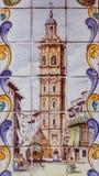 Walencja Hiszpania, Grudzień, - 02, 2016: Stary dachówkowy świętego Catherine wierza Zdjęcia Stock