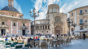 Walencja, Hiszpania Grudzień 02, 2016: Katedralny Walencja Fotografia Stock