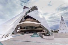 Walencja, Hiszpania Grudzień 01, 2016: Miasto sztuki i nauka Zdjęcie Stock