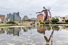 Walencja, Hiszpania Grudzień 01, 2016: Miasto sztuki i nauka Zdjęcia Stock