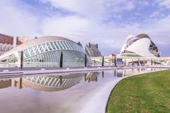 Walencja, Hiszpania Grudzień 01, 2016: Miasto sztuki i nauka Fotografia Royalty Free