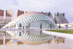 Walencja, Hiszpania Grudzień 01, 2016: Miasto sztuki i nauka Obraz Stock