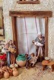 Walencja Hiszpania, Grudzień, - 02, 2016: Narodzenie Jezusa scena Fotografia Royalty Free