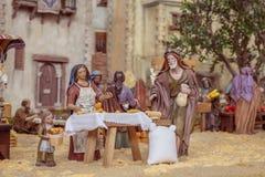 Walencja Hiszpania, Grudzień, - 02, 2016: Narodzenie Jezusa scena Zdjęcie Stock
