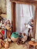 Walencja Hiszpania, Grudzień, - 02, 2016: Narodzenie Jezusa scena Obrazy Royalty Free