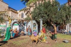 Walencja, Hiszpania Grudzień 02, 2016: Narodzenie Jezusa sceny centrum Walencja Obrazy Royalty Free