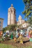 Walencja, Hiszpania Grudzień 02, 2016: Narodzenie Jezusa sceny centrum Walencja Zdjęcia Royalty Free