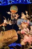Falla przy nocą Obraz Royalty Free