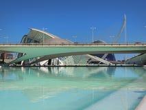 Walencja, nowożytna część miasto Zdjęcia Royalty Free