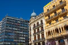 Walencja placu Ayuntamiento śródmieście przy Hiszpania zdjęcia royalty free