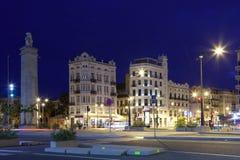 Walencja przy nocą, Hiszpania Fotografia Royalty Free