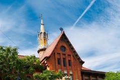 Walencja sala sławna stara targowa Hiszpania Mercado Obrazy Royalty Free