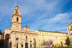 Walencja Santa Monica placu kwadrata el Salvador kościół Obrazy Royalty Free