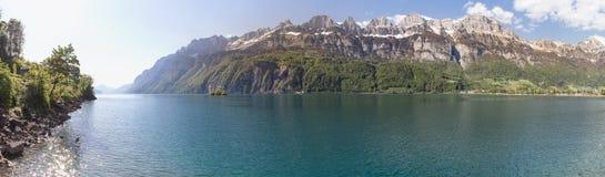 walensee湖瑞士高定义全景 库存照片