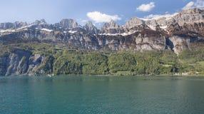 walensee湖瑞士 免版税库存图片