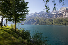 walensee湖瑞士 库存图片