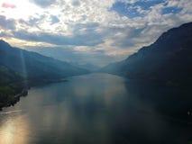 Walensee alla Svizzera fotografie stock libere da diritti