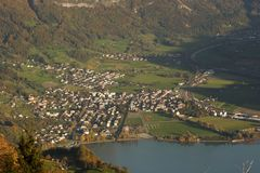 Walenstadt from above. Royalty Free Stock Photo
