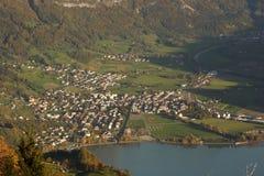 Walenstadt od above. Zdjęcie Royalty Free