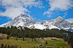 Walenstock e Rigidalstock lordi delle alpi di Urner Fotografia Stock Libera da Diritti