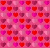 Walentynek bezszwowi serca dla romantycznego miłość tematu Fotografia Royalty Free