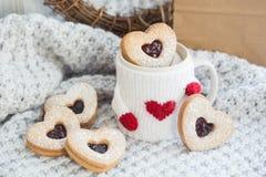 Walentynek ciastka Obrazy Royalty Free