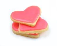 Walentynek ciastka w formie serca Fotografia Royalty Free
