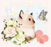 Walentynek dzień kartka z pozdrowieniami ilustracji