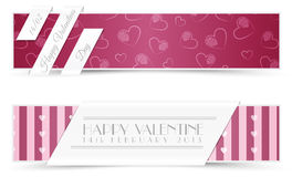Walentynek kartka z pozdrowieniami sztandary Obraz Royalty Free