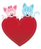 Walentynek kiciunie royalty ilustracja