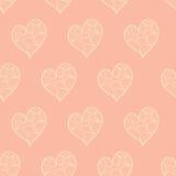 Walentynek serc bezszwowy wzór Fotografia Royalty Free