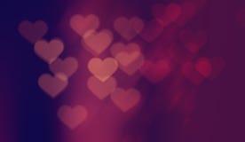 Walentynek serc Bokeh tło Fotografia Royalty Free